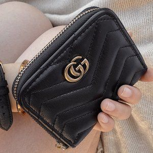 Gucci GG Marmont Repurposed Zip Wallet